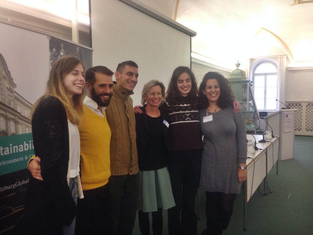 The Greek Fellows pose with our Arts & Culture Program Director, Susi Seidl-Fox (10/22/2014).